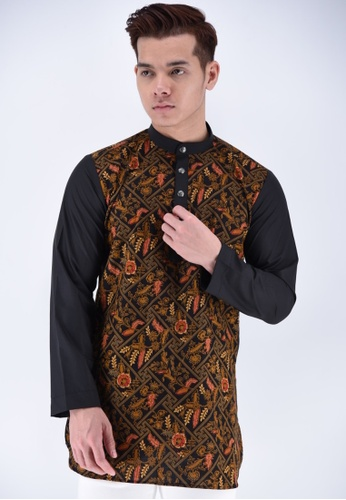 UA BOUTIQUE black Kurta Batik UAKLB07-011 (Black) 860B0AAF61EA93GS_1