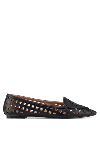 ZALORA 黑色 編織鏤空平底鞋 E69DDSHBDDAE8AGS_1