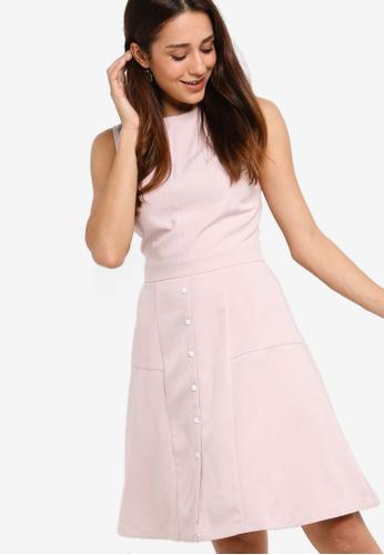 bf2b851fb211dd Shop ZALORA Button Down Sleeveless Dress Online on ZALORA Philippines