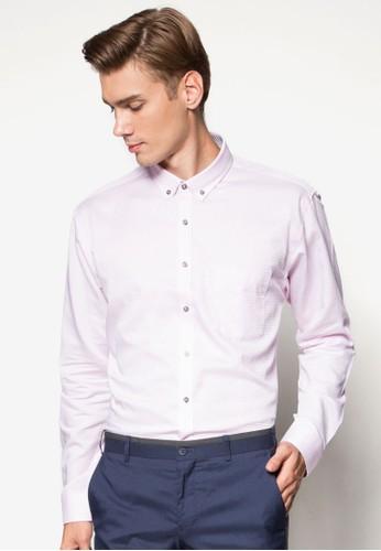 暗紋esprit outlet 桃園長袖商務襯衫, 服飾, 服飾