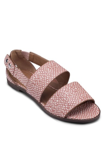 Stacey 寬帶鏤空平底涼鞋, 女鞋,esprit暢貨中心 涼鞋