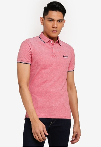 SUPERDRY pink Poolside Pique Short Sleeve Polo 515FCAAA8A101CGS_1