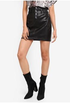 5f5a1c6dd River Island black Elsie Button Front Mini Skirt E3438AA41D1A9FGS_1