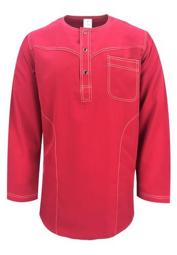 Pacolino red Baju Kurta Muslim For Kids - EK1802 (Red) 78D55KAD1BC607GS_1