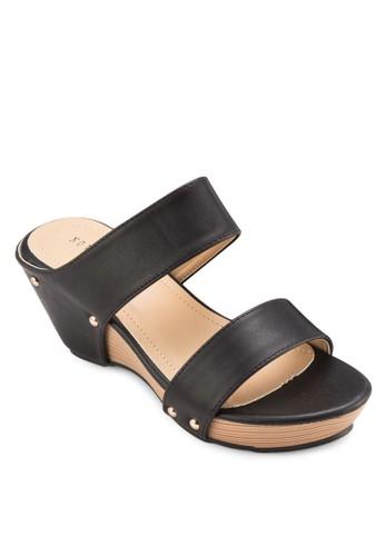 雙帶楔型跟休閒涼鞋, zalora 心得女鞋, 鞋