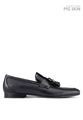 Dune London black Hardware Hi-Shine Tassel Loafers DU588SH0RQNOMY_1