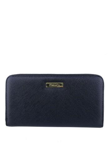 Mel&Co black Faux Leather Zipped Long Wallet 72B85AC2A2BCADGS_1