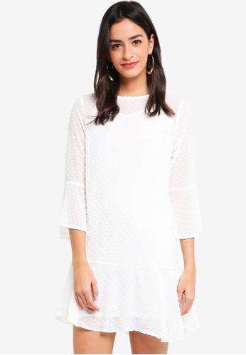 ZALORA white Sheer Drop Waist Dress CFA7DAAEC0AE9DGS_1