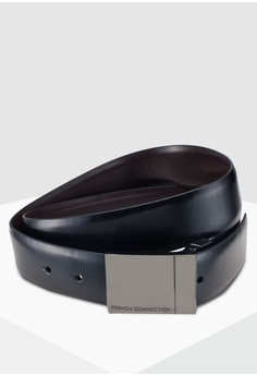 a6226a215ce French Connection black and brown Formal Reversible Plate Belt  4BAF3AC2DDCFB4GS 1