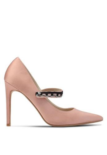 Velvet 粉紅色 Strap Detail Heels 73010SH292AF20GS_1