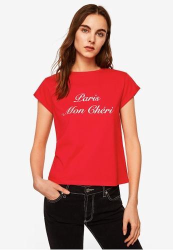 Mango red Message Cotton T-Shirt 2807EAA27FDDA3GS_1