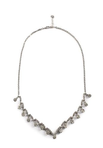 My Flash Trash silver Vintage Diamante Drop Necklace 85D15ACCD6633EGS_1
