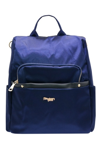 STRAWBERRY QUEEN blue 3-Way Anti-Theft Backpack - ANTI-THEFT BOB (Navy Blue) C4BD2AC586E15AGS_1
