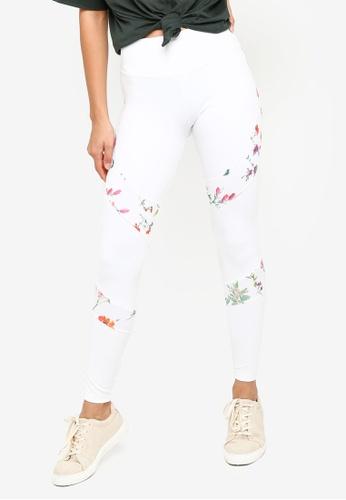 Desigual Camo Flower Waist Bag Blanco