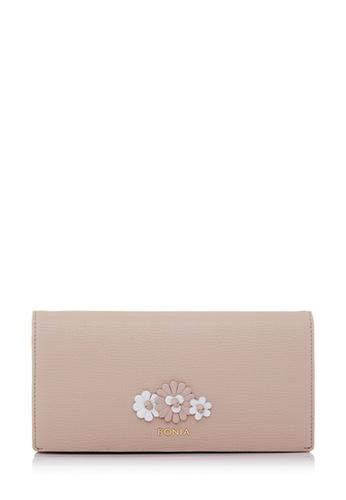 BONIA beige Beige Botanica Long Two Fold Wallet 28CE9ACEA3B134GS_1