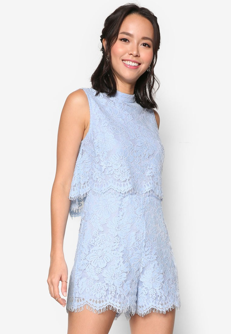 Double Layer Lace Romper