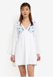 Something Borrowed white Embroidered Babydoll Dress 8F3E5AA858A450GS_1