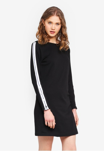 ONLY black Long Sleeve Dress 55127AA2AFBF9CGS_1