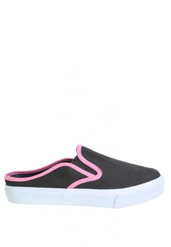 BENCH grey and pink Canvas Slip Ons BE550SH0JXQMPH_1