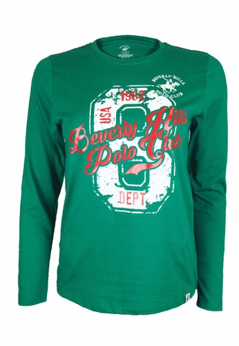 Beverly Hills Polo Club green BHPC Women Cotton Jersey Graphic Long Sleeves 65D13AAA16C79AGS_1