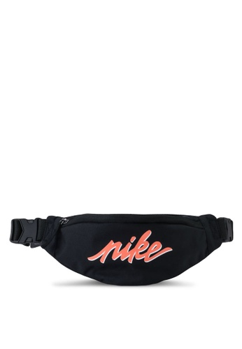 Nike black and grey Heritage Hip Pack 5E102AC1F81EC3GS_1