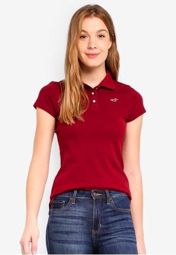 Hollister red Core Basic Polo Shirt 2A25FAABC027AFGS_1