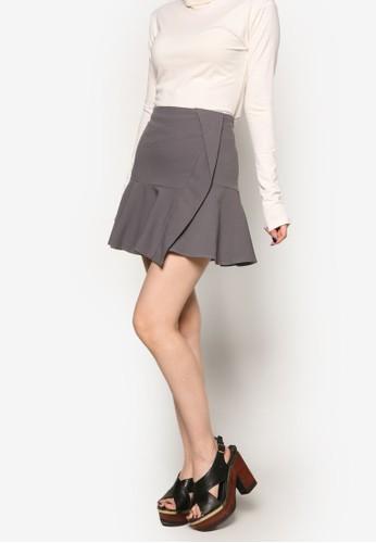 褶飾迷你短esprit 會員裙, 服飾, 裙子