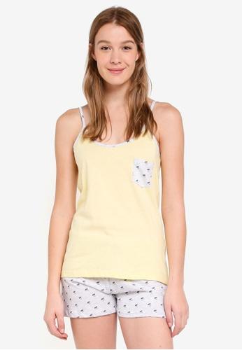 OVS yellow Printed Pyjama Set 292C8AAA261318GS_1