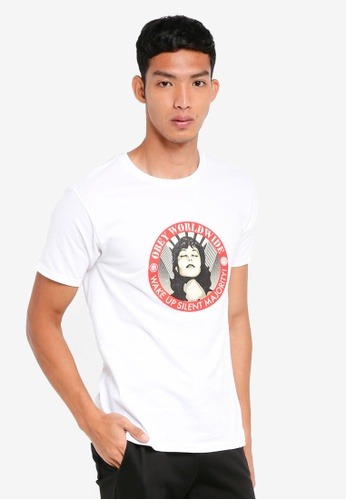 OBEY white Obey Wake Up Silent Majority T-Shirt AE0ACAAA80D7FCGS_1