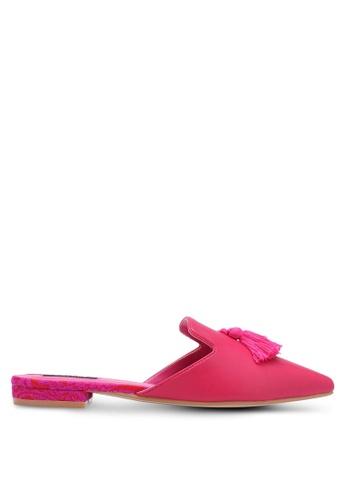 ZALORA pink Tassel Mule Slides B09E9SH75FB23EGS_1