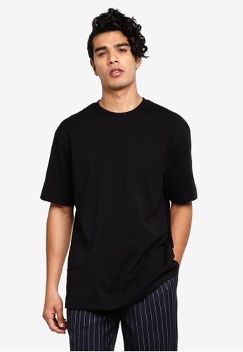 Topman 黑色 短袖T恤 805EEAAC92DBC2GS_1