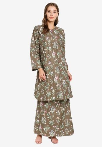 Butik Sireh Pinang brown Baju Kurung Pahang Julia 941D7AAFB1FBC2GS_1