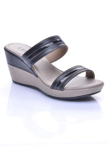 LENO black SEVDA Slide Sandals (LS36550) LE122SH26OIJMY_1