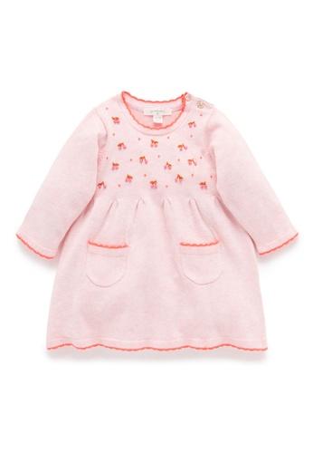 Purebaby pink Cherries Dress C38F8KA65AD99CGS_1