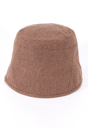 We Enjoy Simplicity brown Bucket Hemp Hat (Khaki) DC165AC05EDF3AGS_1