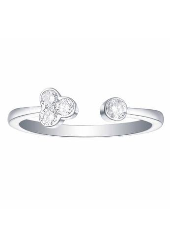 Smiling Rocks white 10K White Gold 0.21ct Lab Grown Diamond Essentials Ring 58DE5ACE9EBE8CGS_1