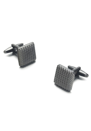 Kings Collection black Black Square Pattern Cufflinks (UPKC20318) 5D026ACF40AD45GS_1