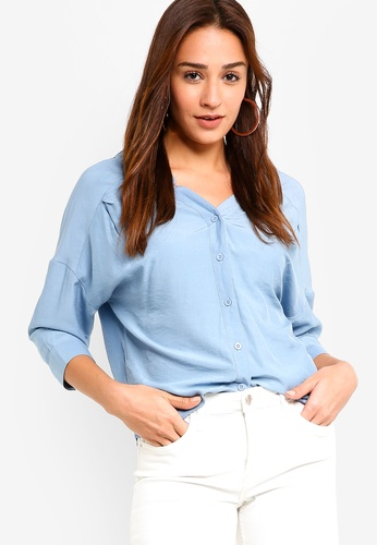 22d61f198c6d Shop ZALORA Drop Shoulder Shirt Online on ZALORA Philippines