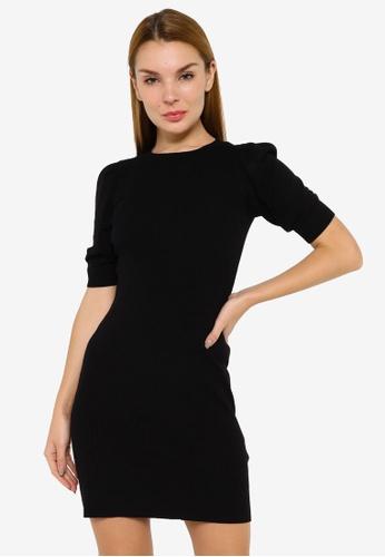 JACQUELINE DE YONG black Kady Short Sleeve Dress 0914BAA2EEC58EGS_1