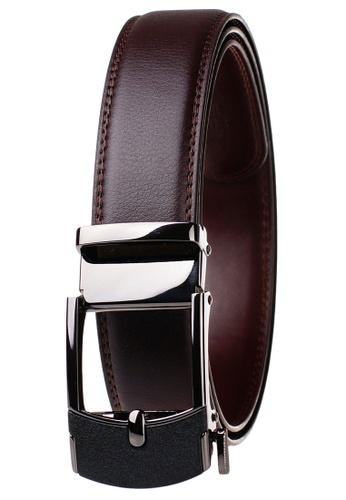 FANYU black Leather Dress Belt With Automatic Buckle belt 39739AC1C0F63DGS_1