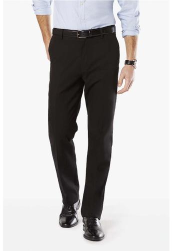 Dockers black Dockers Signature Khaki Straight Pants Black 035D9AA20CB8E7GS_1