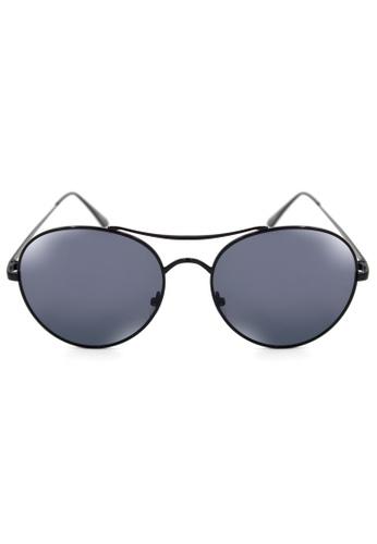 Maldives Eyewear black Philip Metal Round Classic Aviator Sunglasses 8005-Y MA573GL70NTPPH_1