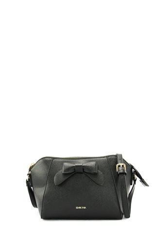 SEMBONIA black SEMBONIA Synthetic Leather Satchel Tote Bag (Black) SE598AC0SZ7SMY_1