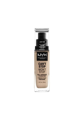 NYX Professional Makeup brown NYX Professional Makeup Can't Stop Won't Stop 24HR Foundation - LIGHT IVORY D771CBE2BB6C53GS_1