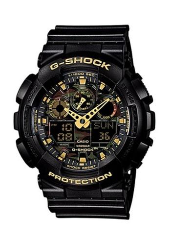 G-SHOCK black and green CASIO G-SHOCK GA-100CF-1A9 44C2BACAD4F18FGS_1