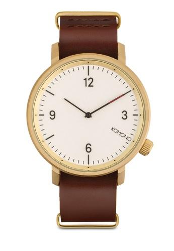 KOMONO brown Magnus II Saddle Brown Watch KO163AC0T0SNMY_1