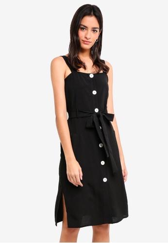 ZALORA black Buttoned Down Midi Dress 97413AAFE853C6GS_1