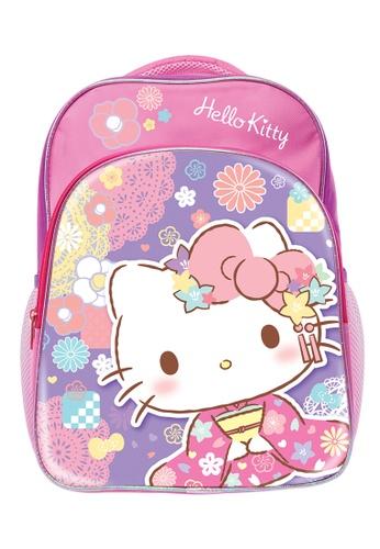 Hello Kitty blue and purple Hello Kitty Kimono Pre-School Bag F5363KC314C054GS_1