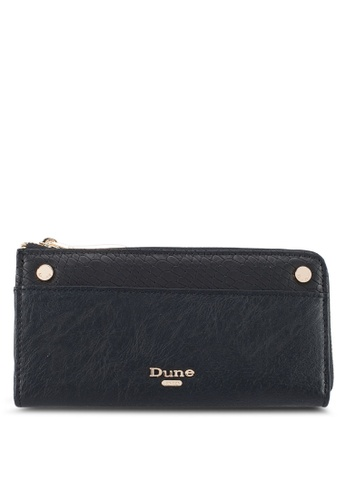 Dune London black Slim Zip Around Purse 265EAACE0628FCGS_1