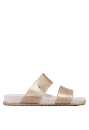 Melissa beige Melissa Cosmic Ad Sandals 1F918SH6BC9468GS_1
